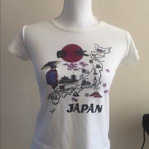 Brandy Melville Jamie cherry floral Japan top